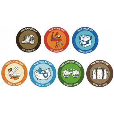 7SofA Patch Set: All 7 $24.00 USD During the 7 Souvenirs of August celebration, we want people to celebrate the many types of geocaches and geocachers. You may be a Nature Lover, a Socializer, an Explorer, a Collector, a Puzzler, or a Sightseer. No matter who you are, you can collect all of the souvenirs. Once you get all 6, you are also an Achiever! Once you are an Acheiver, you should celebrate with a set of patches!
