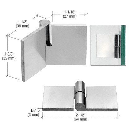 crl polished stainless left hand uv bond hinge by cr laurence