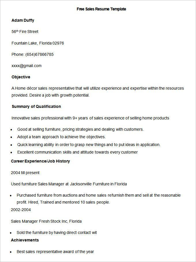 Free Sample Sales Resume Template , Write Your Resume Much Easier with Sales Resume Examples , Sales resume examples are usually easy to find with various formats and writing methods. Sales resume itself covers wide ranges of sales such as insur...