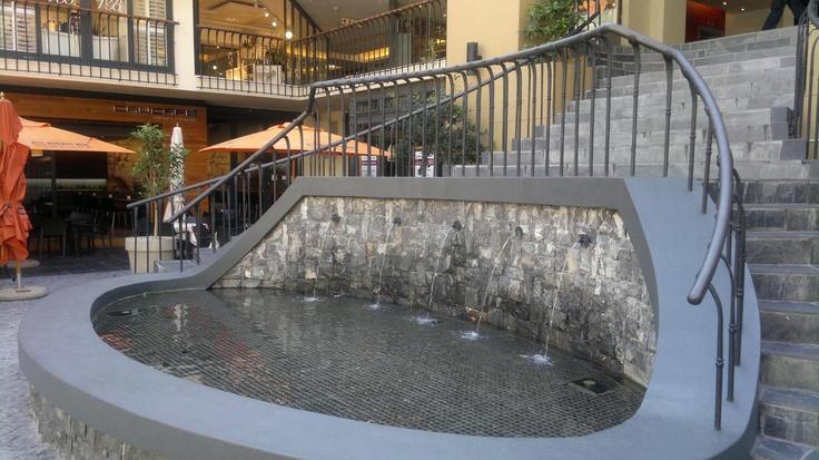 Water feature @ Cape Quarter Food Court