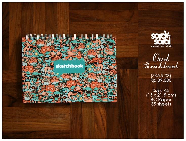 Sketchbook Owl by #soraksorai    Designed by Upik Supriyanto