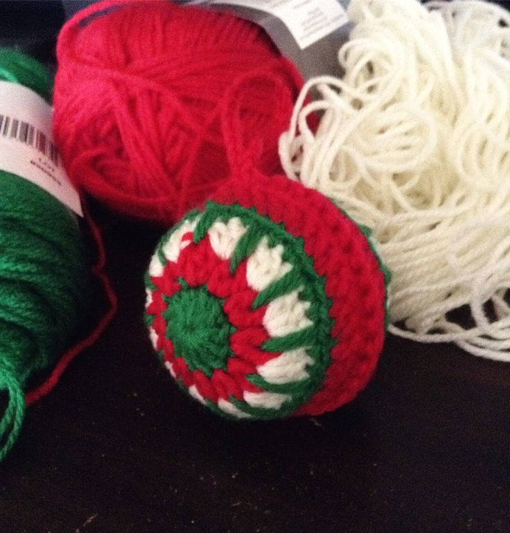 Crochet Making cute Christmas treedecorations cotton