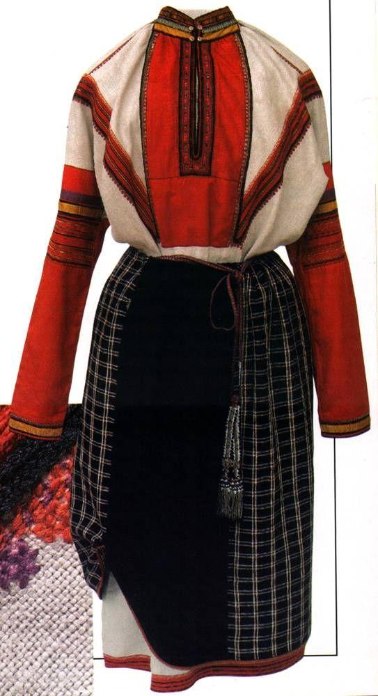 Девичий праздничный костюм Тамбовской губернии, Спасский уезд