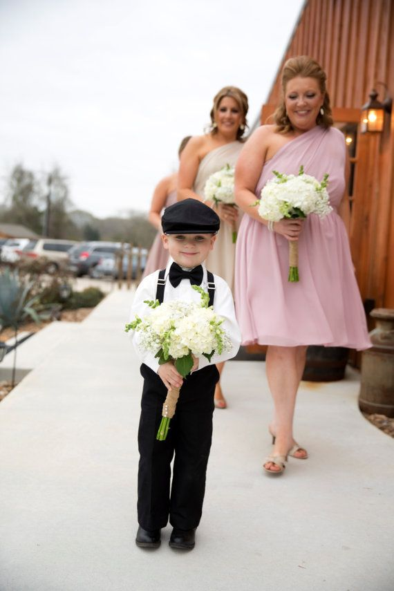 Cotton Ring Bearer Outfit 4 Piece Set: Ring by TwoLCreations