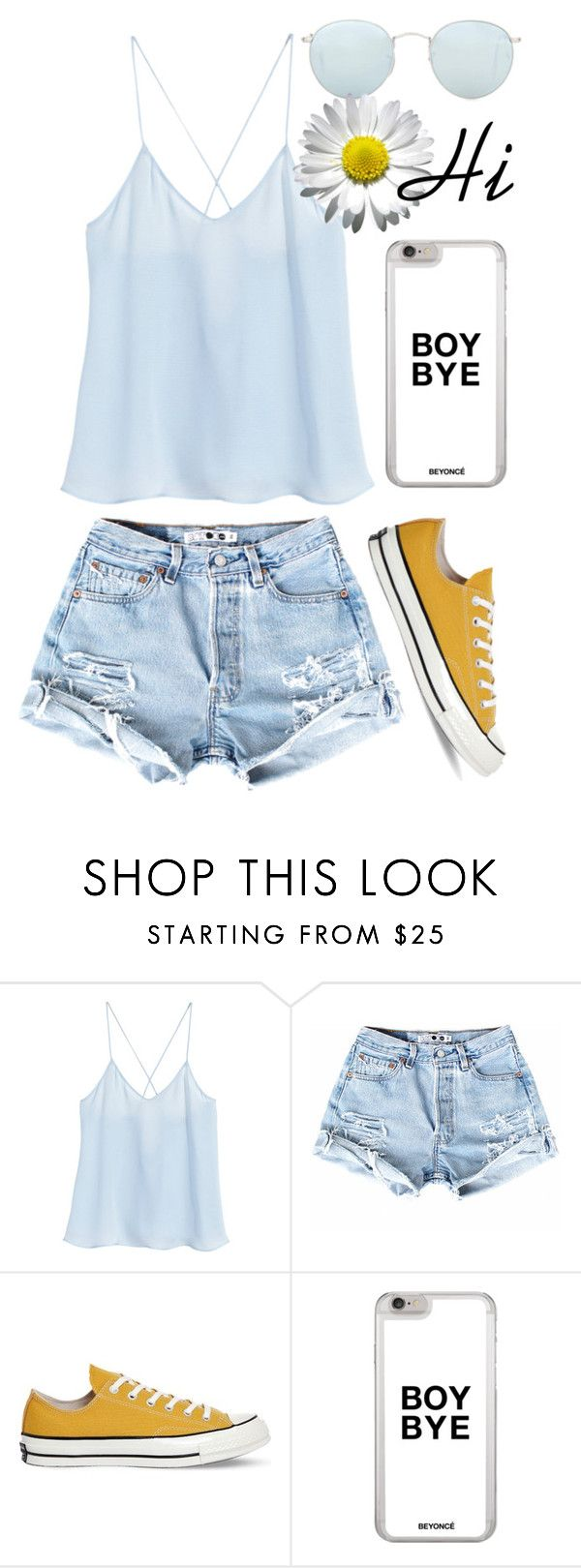 """""""Untitled #141"""" by travel-out ❤ liked on Polyvore featuring H&M, Converse and Ray-Ban"""