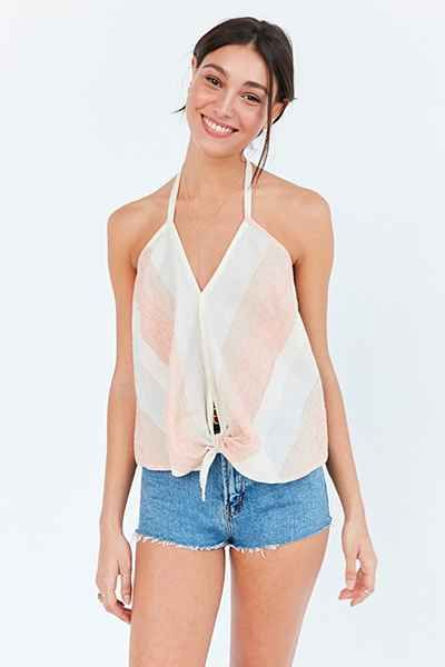 Cooperative Sherbet Tie-Front Halter Top - Urban Outfitters