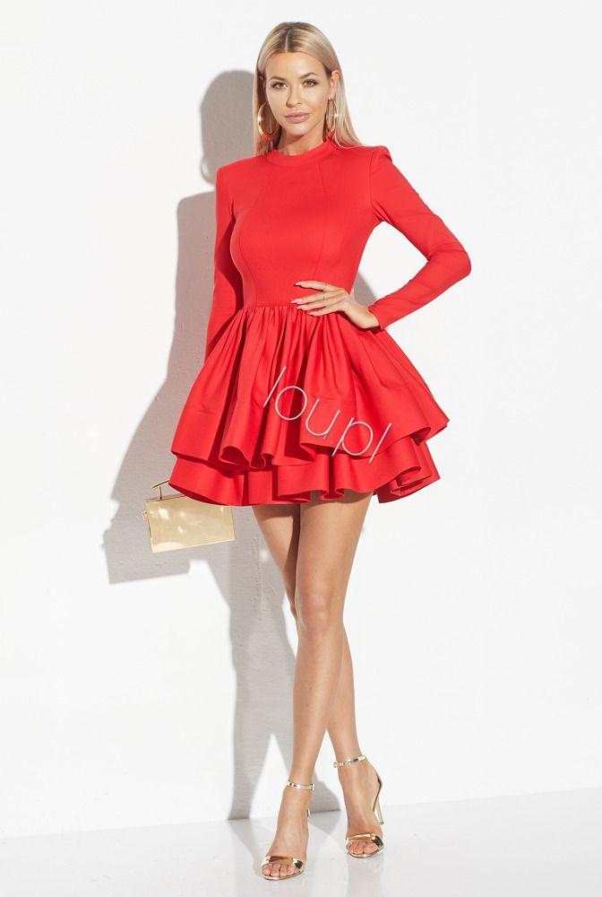 Noemi Czerwona Koralowa Sukienka Fashion Dresses Mini Dress