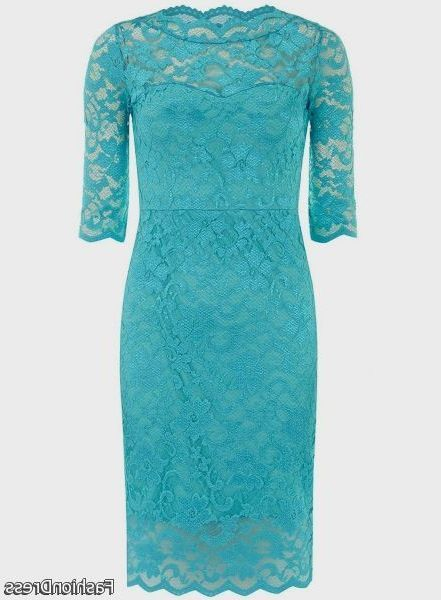 Cool turquoise lace dresses 2017-2018