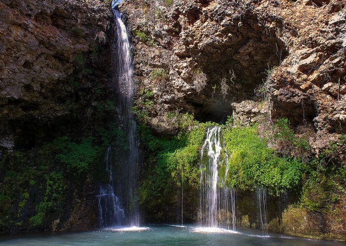 """15 Jaw Dropping Places To Visit In Oklahoma. 6. Here at Natural Falls State Park, you will find the cascading waterfalls that were filmed in the movie """"Where The Red Fern Grows."""""""