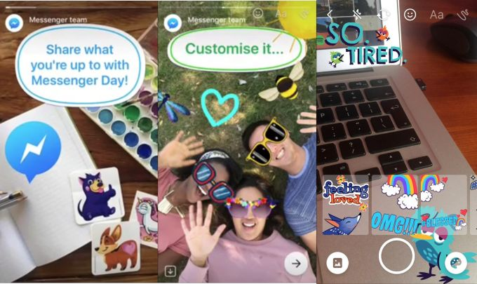 facebook-messenger-day #apps #facebook #chat #snapchatclone