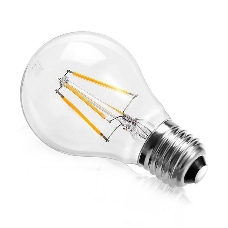 Lampadina Led E27 a filamento. Consumo bassissimo e resa luminosa efficiente. #Relamping
