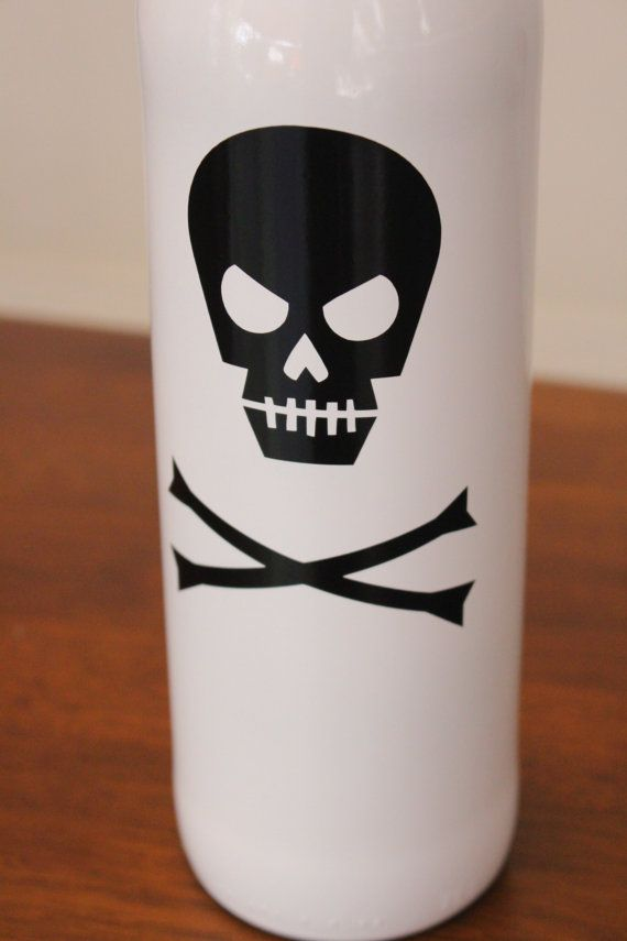 Skeleton Wine Bottles Halloween Wine Bottles by BriEllaCreations