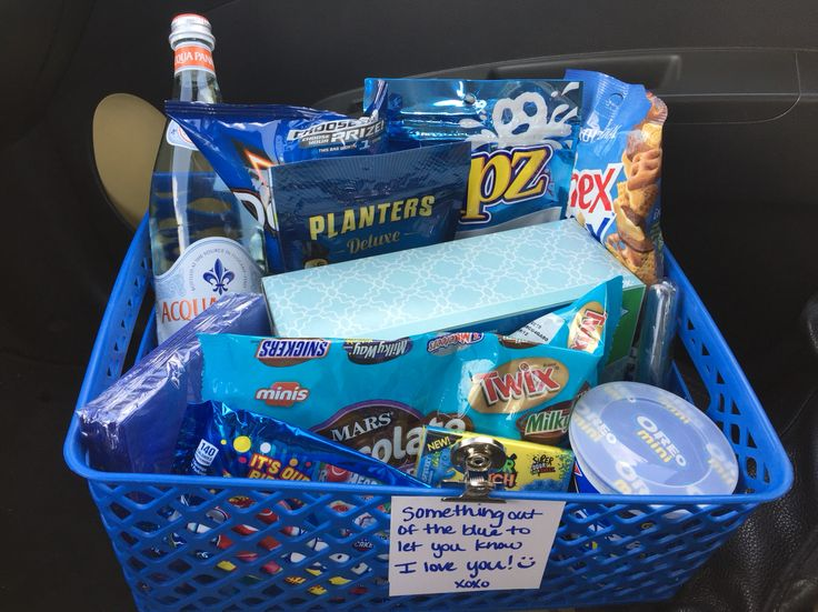 something out of the blue to let you know i love you  gift basket