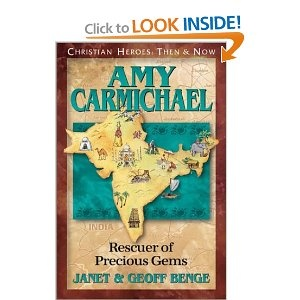 Amy Carmichael stood on the deck of the steamer, waving good-bye once again to her old friend Robert Wilson. How could she have known she would never see him or the British Isles again? Amy was certain God had called her to India. Indeed! India would be home for the rest of her life.    Amy's life was marked by a simple, determined obedience to God, regardless of circumstances. Her story and legacy are stunning reminders of the impact of one person who will fear God and nothing else.