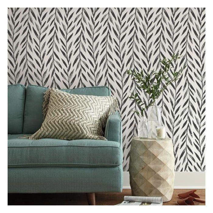 Willow Premium Peel And Stick Wallpaper Magnolia Homes Peel And Stick Wallpaper Stripped Wallpaper