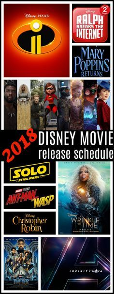 2018 Disney Movie Schedule | Full list of film releases for the year from Walt Disney, Marvel & Lucasfilm - Raising Whasians via @raisingwhasians