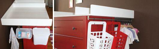 Wickeltischaufsatz für Ikea Kommode selberbauen – Accessoires