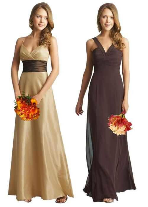 I like the bridesmaid dress on the left. Different color though