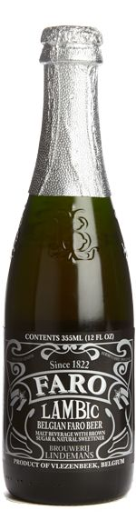 Lindemans Faro Lambic beer - fruit and caramel aroma. Pairs well with milk chocolates. Order here: http://merchantduvin.com/brew-lindemans-faro-lambic.php