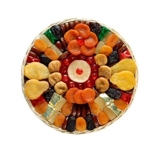 Great gift for graduation, birthday, thinking of you or any occasion Perfect gift basket for family and friends, or as a corporate office gift. This 1 lb. 8 oz. tray contains a gourmet assortment of succulant dried fruit from the fertile California valley. Broadway Basketeers Heart Healthy Floral Dried Fruit Gift Tray