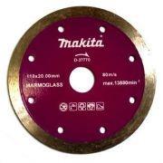 Disco Para Serra Mármore D37770 Marmoglass - Makita - Disco Diamantado Continuo.     Medidas: Diâmetro 110 MM     Furo: 20 MM     Aplicação: Marmoglass, refrigeração úmido. www.colar.com