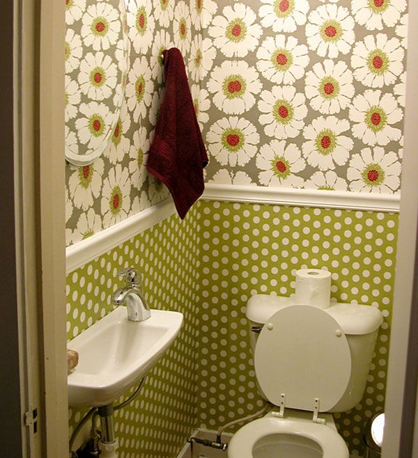 Best of we lined the wall with sheets of wrapping paper from Paper Source along with wallpaper adhesive on the back and Mod Podge on the top to protect it and Pictures - Simple Elegant Modern Bathroom Wall Decor Pictures