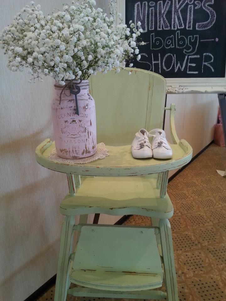 Vintage Baby Shower...  or can be used as Bridal shower.  Love the babys breath/mason jars !!!