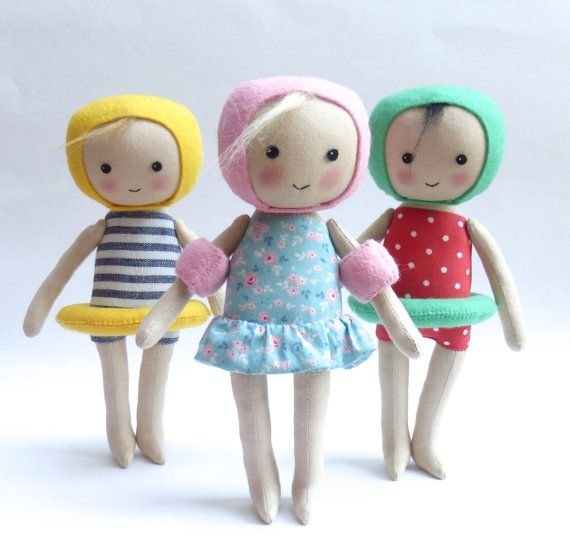 cloth doll in swimming costume swimming figure swimming art