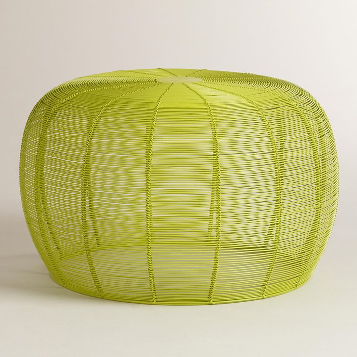 Lime Green Lola Wired Stool | World Market