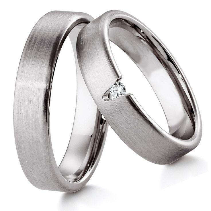 Обручальное кольцо из белого золота с бриллиантом ok1-012   http://jewellery.spb.ru/