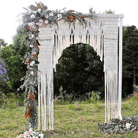 Macrame wedding arch...just because @edeneve.macrame