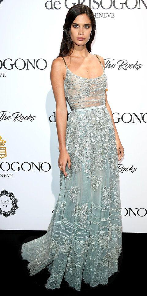 Sara Sampaio candy blue in Cannes