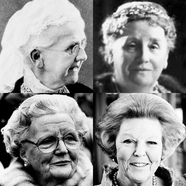 Emma, Wilhelmina, Juliana and Beatrix!
