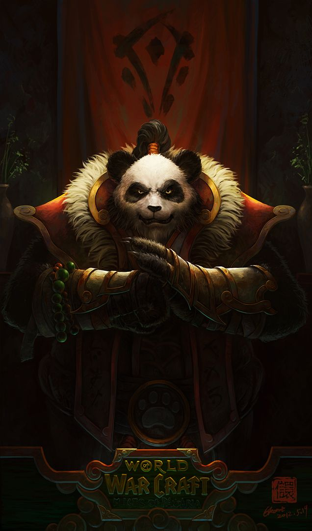 <3 this. It would all work great for LARPing. The banner. The fursuit. The gauntlets. The shoulders on the vest. The beads. - #warcraft #pandaren