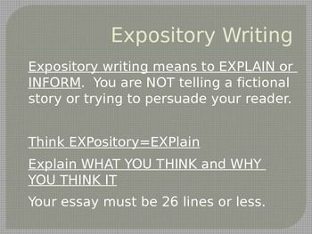 What parts do facts play in the expository essay?