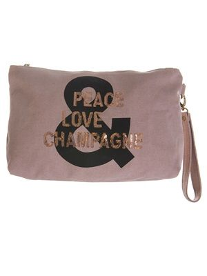 Barfota spring/summer 2014 Toilet bag canvas peace love champagne www.barfota.no