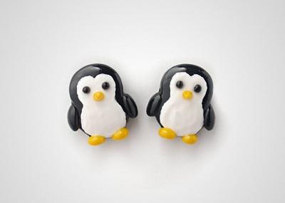 Penguin Earrings Studs - Cute Kawaii Animal Jewelry Polymer... - Polyvore