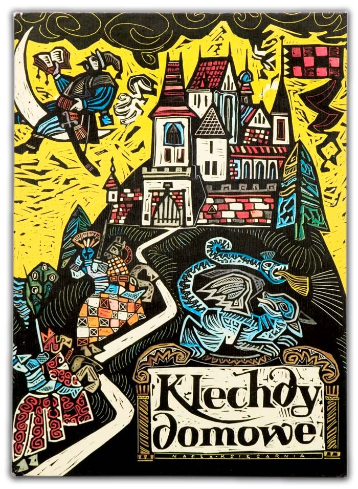 """Zbigniew Rychlicki (Polish, 1922-1989): illustrations for """"Klechdy domowe"""" - children's book with old tales from Poland collected by Hanna Kostyrko, 1970s [scanned by Jarmila09]."""
