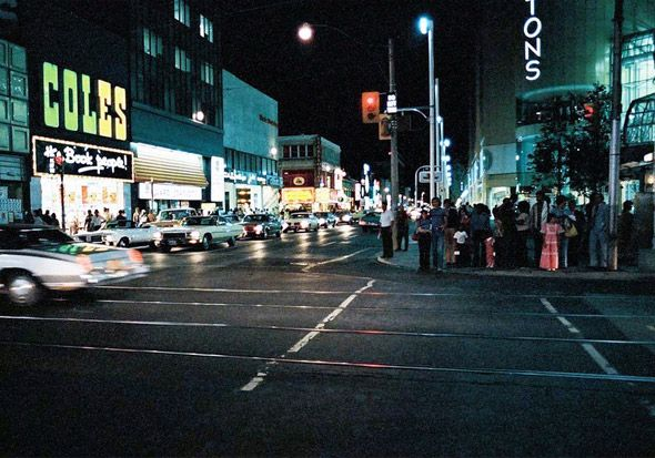 Yonge and Dundas---1970s  Looking south on Yonge