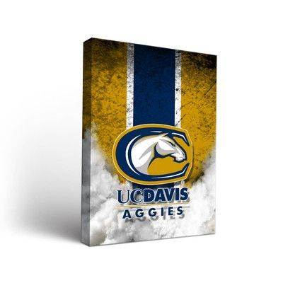 """Victory Tailgate NCAA Vintage Version Framed Graphic Art on Wrapped Canvas NCAA Team: California University of Davis Aggies, Size: 24"""" H x 18"""" W x ..."""