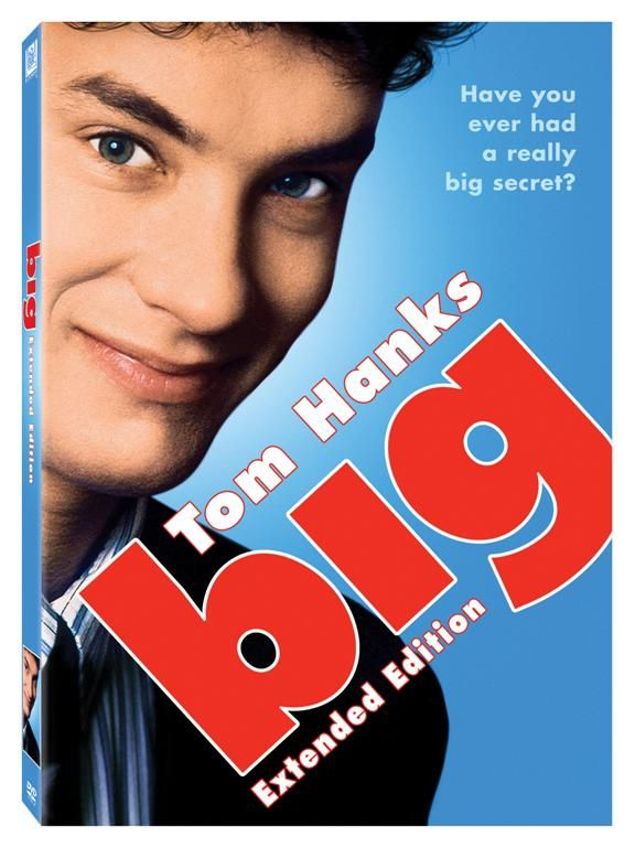 Love Tom Hanks in anything he does-comedy or drama:).  BIG is such an adorable movie and Tom plays a 13 year old boy in a 30 year old male body to PERFECTION:)