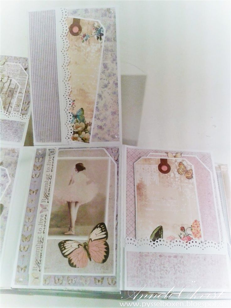 Mini Album - Vintage Spring Basic and Vintage Summer Basic paper collection from Maja Design 6 3/4 x 5 inch in size 8