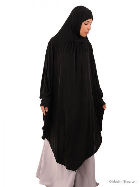 Sehr einfach und Praktisch kann diese Hijab Tunika zum Gebet verwendet werden Diese Kleidung ist aus Lycra Material mit Schmetterlingsärmeln Es erf