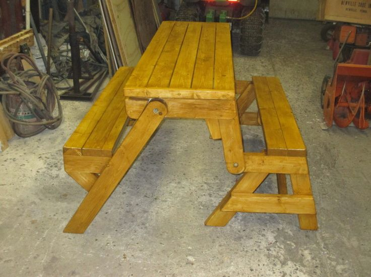 Folding Picnic Table Bench. Picnic Table Bench Plans