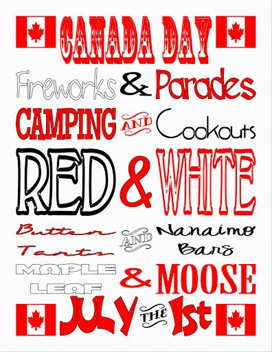 Printables by Muffin's Mama:  Canada Day Subway Art