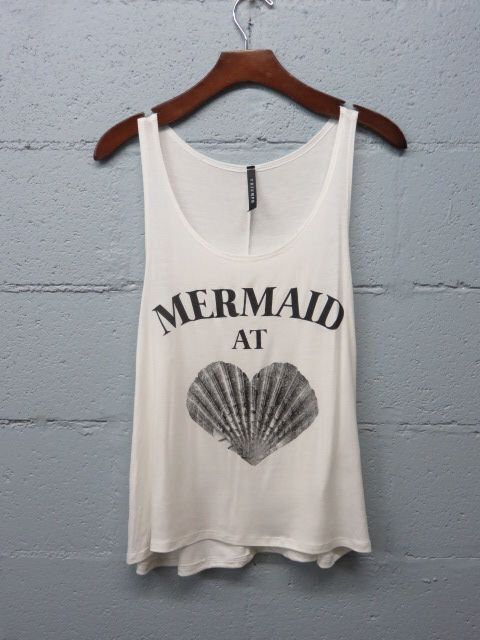 Mermaid At Heart Graphic Tank Top, Beach Tank, Boho, Mermaid Shirt by SavChicBoutique on Etsy https://www.etsy.com/listing/234926129/mermaid-at-heart-graphic-tank-top-beach