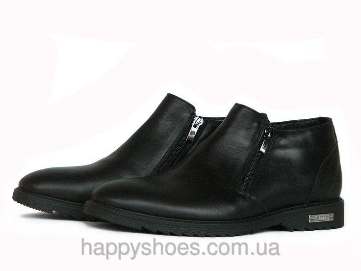 """Купить Мужские черные ботинки на молнии в Запорожье от компании """"HappyShoes"""" - 440682659"""