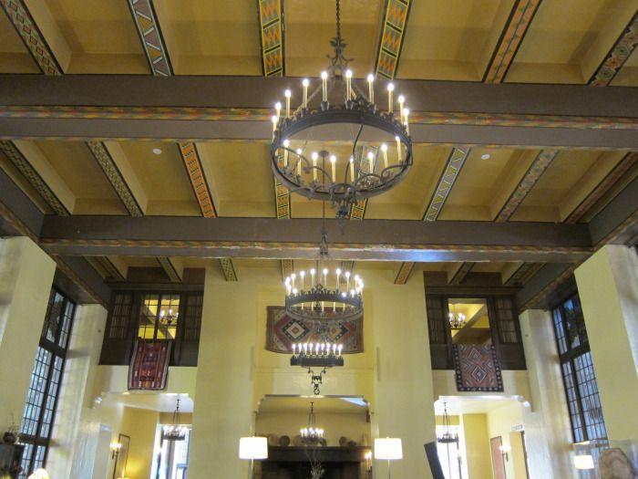 Painted ceiling beams Ahwahnee Hotel, Yosemite National Park.