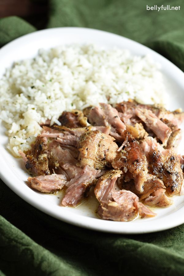Slow cooked all day until the meat cuts like butter, this Slow Cooker Cuban Pork is so delicious and perfect served over rice, in tacos, or as sandwiches.