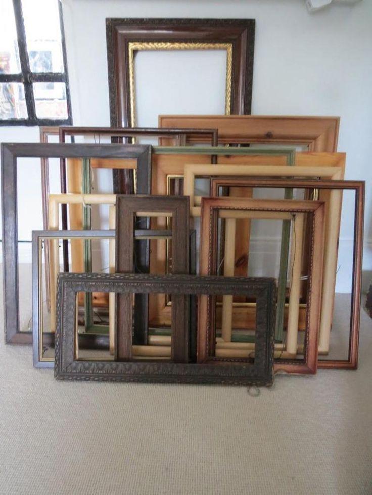 Wooden Frames Picture Frames Job Lot of 16 Art Deco